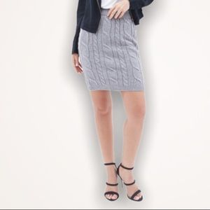 F21 Contemporary Cable Knit Pencil Skirt